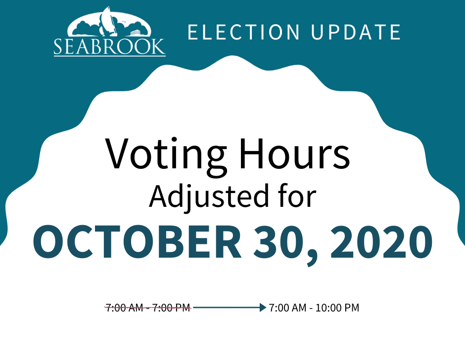 Voting Hours Adjusted