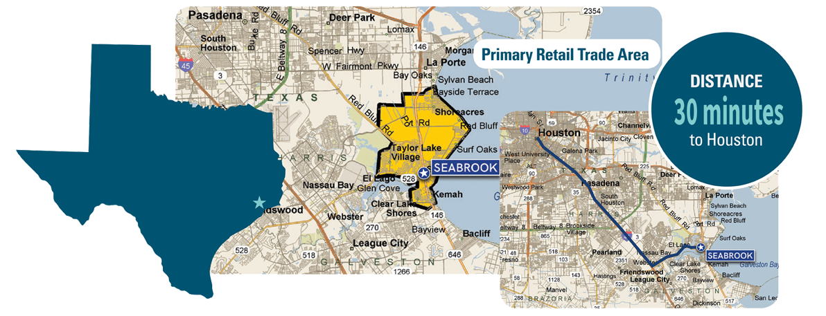 Seabrook Trade Area Map