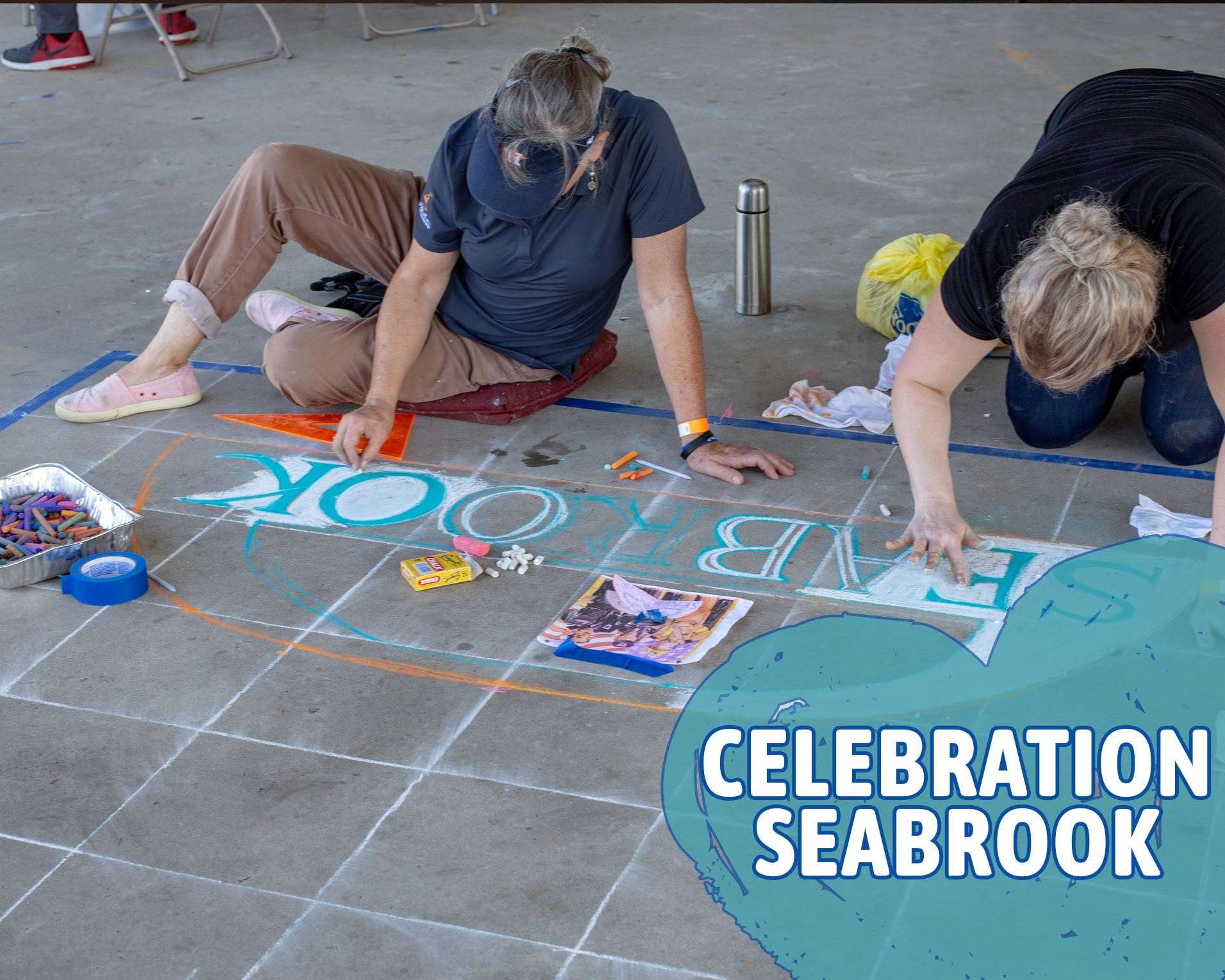 Chalk Painting at Celebration Seabrook 2018