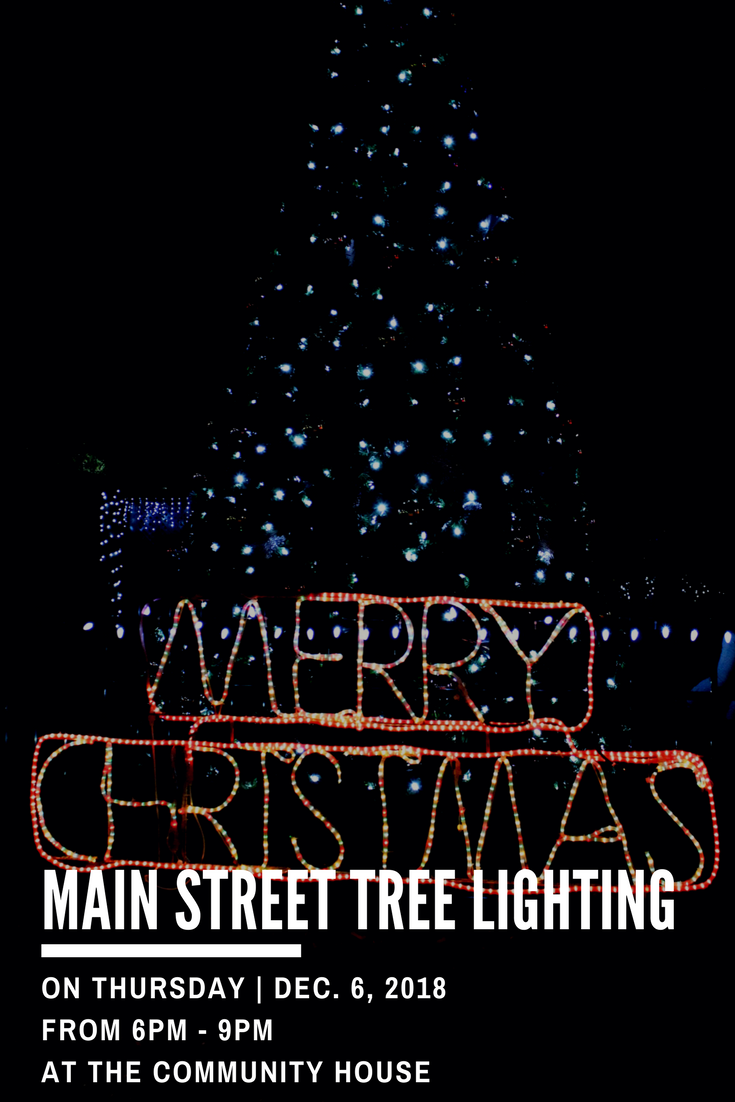 Main Street Tree Lighting - Website Graphic