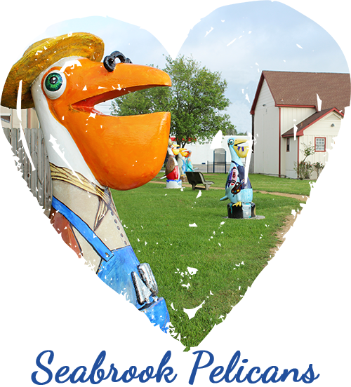 Seabrook Pelicans - Heart SMALL