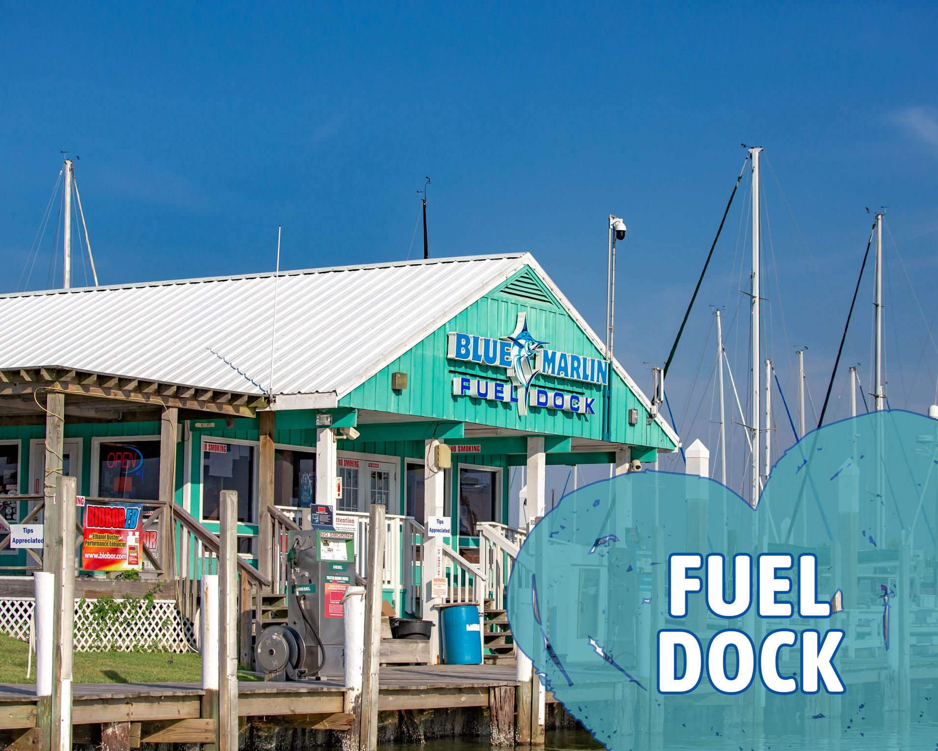 Blue Marlin Fuel Dock Opens in new window